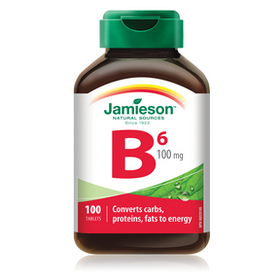 Jamieson Vitamin B6 100 mg (Pyridoxine) - 100 tablets