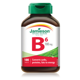 Jamieson Vitamin B6 (Pyridoxine) 100 tablets by Jamieson - Ebambu.ca natural health product store - free shipping <59$