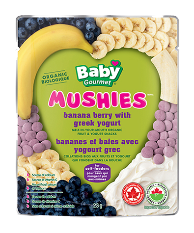 Baby Gourmet - Mushies Banana Beetberry - Ebambu.ca free delivery >59$