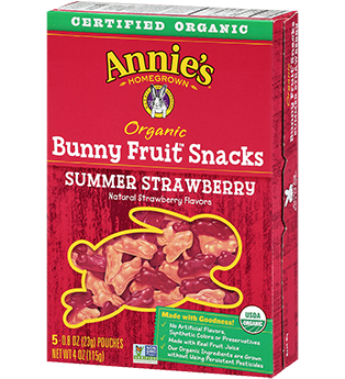 Annie's Homegrown - Gummy bunnies (snack size) by Annie's Homegrown - Ebambu.ca natural health product store - free shipping <59$