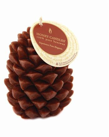 Honey Candles - Ponderosa Pine Cone - 2 colours by Honey Candles - Ebambu.ca natural health product store - free shipping <59$