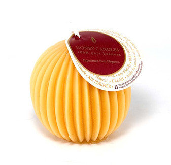 Honey Candles - Fluted Sphere Candles - 12 colours by Honey Candles - Ebambu.ca natural health product store - free shipping <59$