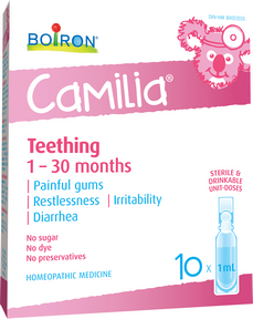 Boiron Camilia Baby Teething 10 doses of 1 ml by Boiron - Ebambu.ca natural health product store - free shipping <59$