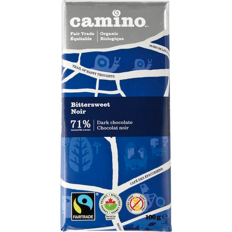 Camino - Dark Chocolate Bars - 4 Degrees - Bittersweet - Ebambu.ca free delivery >59$