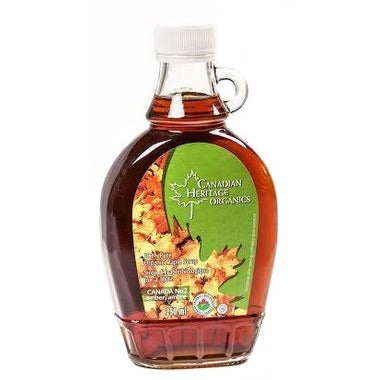 Canadian Heritage Organics - Maple Syrup Amber 250 ml - Ebambu.ca free delivery >59$