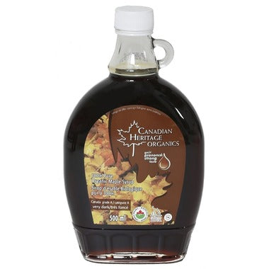 Canadian Heritage Organics - Maple Syrup Very Dark 500 ml - Ebambu.ca free delivery >59$