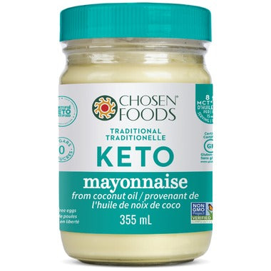 Chosen Foods - Tradional Keto Mayo from Coconut Oil 335 ml - Ebambu.ca free delivery >59$