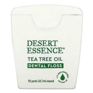 Desert Essence - Tea Tree Oil Dental floss 50 yards - Ebambu.ca free delivery >59$
