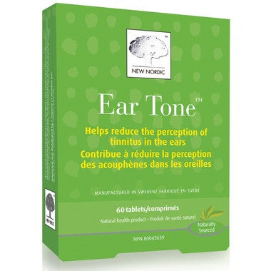 New Nordic Ear Tone 30 tabs by New Nordic - Ebambu.ca natural health product store - free shipping <59$