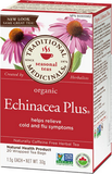 Traditional Medicinals Organic Echinacea Plus 20 bags by Traditional Medicinals - Ebambu.ca natural health product store - free shipping <59$