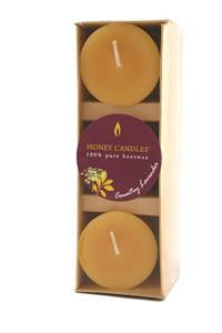 Honey Candles - Essential Votives Candles scented with essential oils Pack of 3