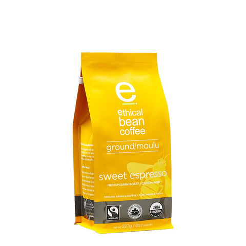 Ethical Bean - Sweet Expresso Organic Ground - Ebambu.ca free delivery >59$