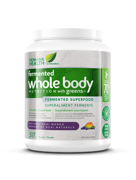 Genuine Health fermented whole body NUTRITION with greens+ 517g -  Açai Mango
