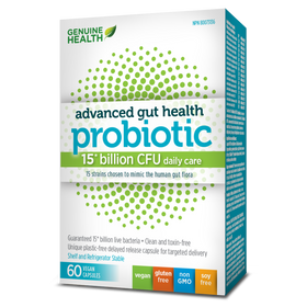 Genuine Health - Advanced Gut Health - Probiotic 15 billion