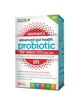 Genuine Health - Advanced Gut Health Probiotic UTI 30 caps