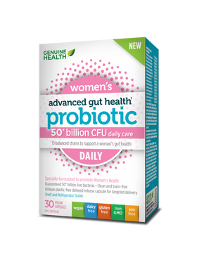 Genuine Health - Advanced Gut Health Probiotic Womens Daily 30 caps