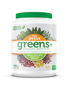 Genuine Health - Greens + Daily Detox Green Apple