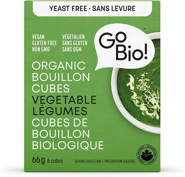 GoBio - Organic Bouillon Cubes Yeast Free Vegetable 66 g - Ebambu.ca free delivery >59$