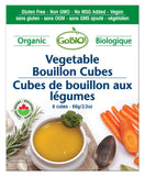 GoBio - Organic Bouillon Cubes 66g - Vegetable - Ebambu.ca free delivery >59$