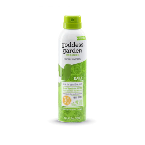 Goddess Garden - Daily Sunscreen SPF 30 Spray - Ebambu.ca FREE SHIPPING OVER 59$