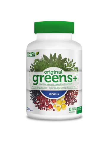 Genuine Health greens+ capsules