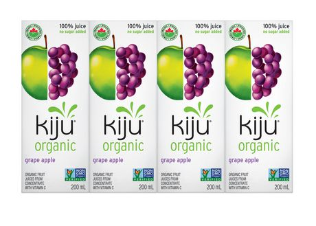 Kiju Organic - Juice Box 4x200 ml by Kiju Organic - Ebambu.ca natural health product store - free shipping <59$