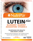 Nutripur Lutein Plus - Cataracts, Age-related macular degeneration, Diabetic retinopathy, Oxidative damage by free radicals, Poor vision day and night, Daily usage of computers and smartphones. - Ebambu.ca natural health product store - free shipping <59$