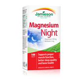 Jamieson Magnesium Night 100 tablets by Jamieson - Ebambu.ca natural health product store - free shipping <59$