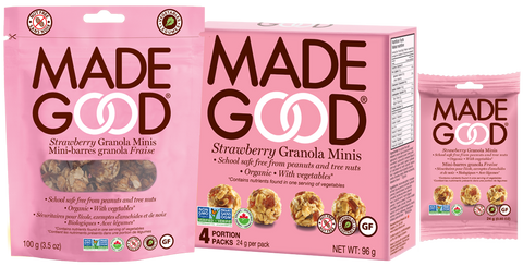 MadeGood - Strawberry granola minis by MadeGood - Ebambu.ca natural health product store - free shipping <59$