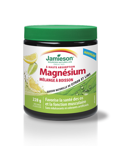 Jamieson Magnesium Drink Mix Lemon-Lime 228 g powder by Jamieson - Ebambu.ca natural health product store - free shipping <59$