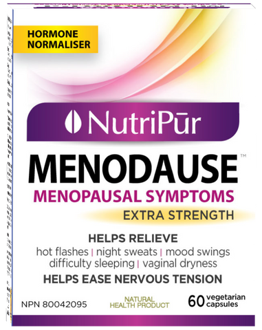 Nutripur - Menodause - Menopause, Hot flashes, Night sweats, Nervousness, Insomnia, Vaginal dryness - Ebambu.ca natural health product store - free shipping <59$