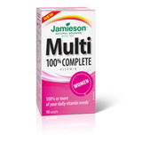 Jamieson Multivitamin 100% Complete for Womens 90 caplets by Jamieson - Ebambu.ca natural health product store - free shipping <59$