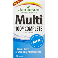 Jamieson Multivitamin 100% Complete for Men 90 caplets by Jamieson - Ebambu.ca natural health product store - free shipping <59$