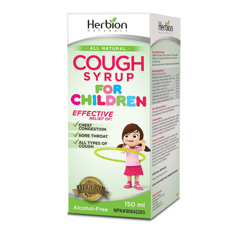 Herbion Cough Syrup for Children 150 ml by Herbion - Ebambu.ca natural health product store - free shipping <59$