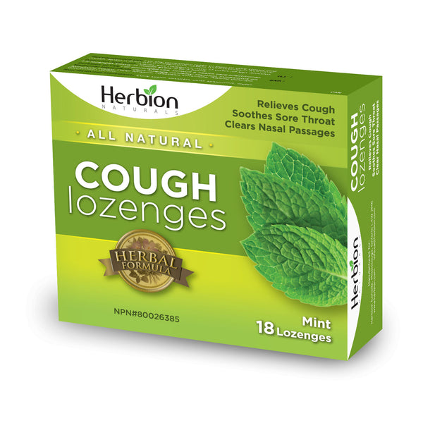 Herbion Natural Cough Lozenges- 18 lozenges by Herbion - Ebambu.ca natural health product store - free shipping <59$