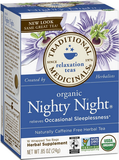 Organic Nighty Night Tea - 20 bags by Traditional Medicinals - Ebambu.ca natural health product store - free shipping <59$