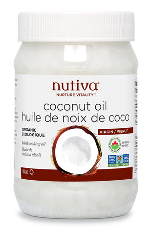 Nutiva - Organic Virgin Coconut Oil 444 ml - Ebambu.ca free delivery >59$