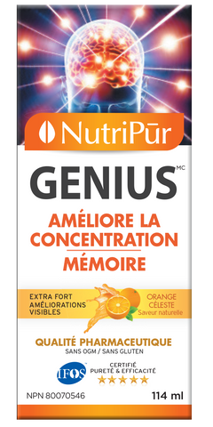 Nutripur GENIUS Adults by Nutripur - Lack of focus  Lack of energy Memory loss Anxiety and stress Attention Deficit Disorder with or without Hyperactivity (ADD/ADHD) - Ebambu.ca natural health product store - free shipping <59$