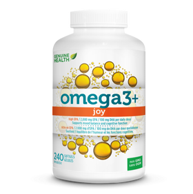 Genuine Health omega3+ JOY - capsules