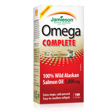 Jamieson 100% Wild Alaskan Salmon Oil 1000 mg 100 softgels by Jamieson - Ebambu.ca natural health product store - free shipping <59$