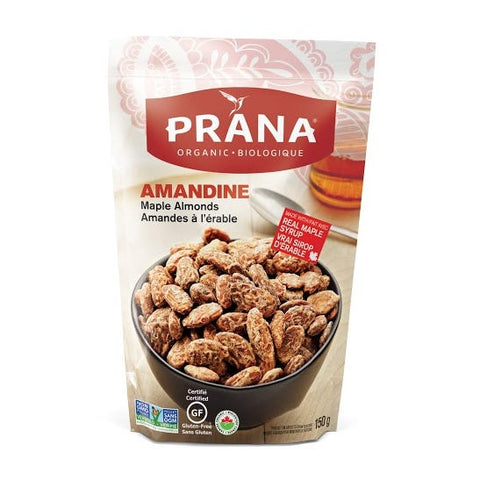 Prana - Amandine Maple Almonds 150 g