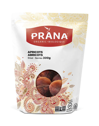 Prana - Organic Dried Pitted Apricots 300 g - Ebambu.ca free delivery >59$