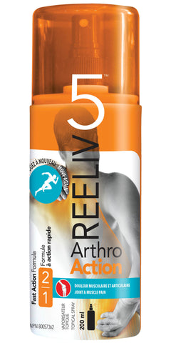 Reeliv5 Arthro Action Spray 200 ml by Reeliv5 - Ebambu.ca natural health product store - free shipping 59$