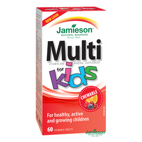 Jamieson Multivitamin for Kids with Iron - 60 chewable tablets