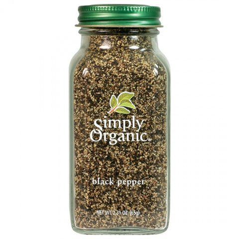 Simply Organic - Black Pepper Medium Grind 65 g - Ebambu.ca free delivery >59$