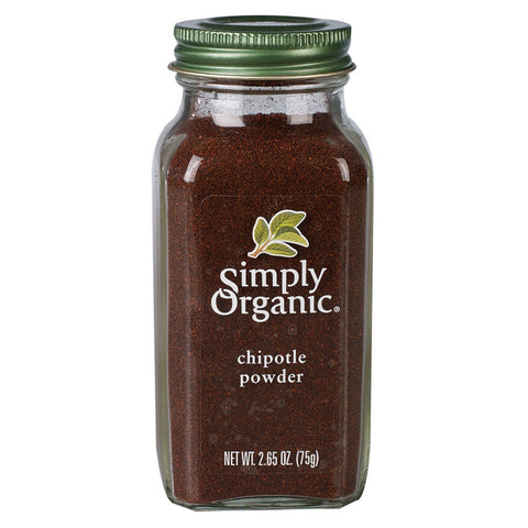 Simply Organic - Ground Chipotle Pepper 75 g - Ebambu.ca free delivery >59$