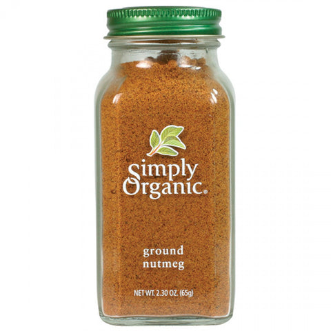 Simply Organic - Nutmeg Ground 65 g - Ebambu.ca free delivery >59$
