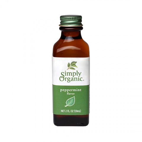 Simply Organic - Peppermint Flavor 59 ml - Ebambu.ca free delivery >59$