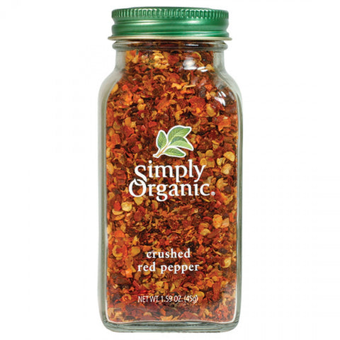 Simply Organic - Red Pepper Crushed 46 g - Ebambu.ca free delivery >59$