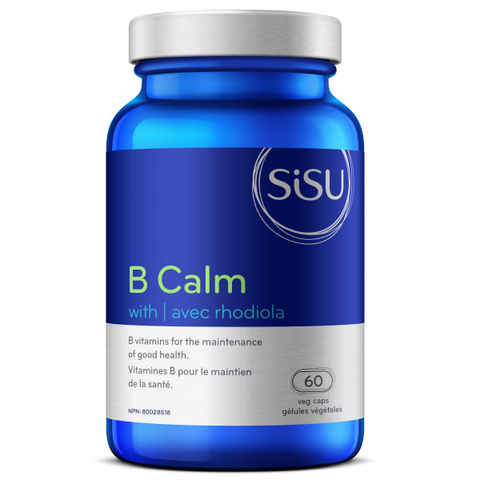 Sisu - B Calm with 250 mg de Rhodiola 60 gel caps - Ebambu.ca free delivery >59$